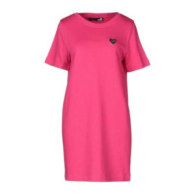 ラブ モスキーノ LOVE MOSCHINO ミニワンピース&ドレス フューシャ 38 コットン 100% / ポリウレタン ミニワンピース&ドレス