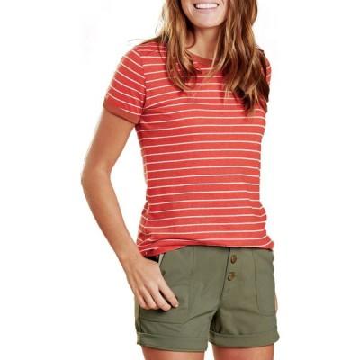 トードアンドコー Toad & Co レディース Tシャツ トップス Grom Ringer T-Shirt Chili Stripe