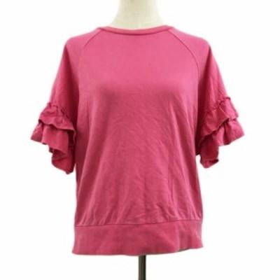 【中古】ロデオクラウンズワイドボウル RCWB カットソー クルーネック プルオーバー 半袖 FREE ピンク