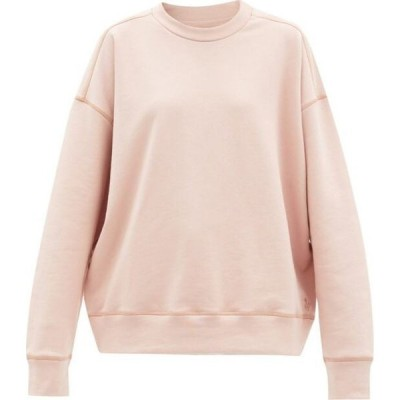 ジル サンダー Jil Sander レディース スウェット・トレーナー トップス Oversized organic cotton-jersey sweatshirt Pink