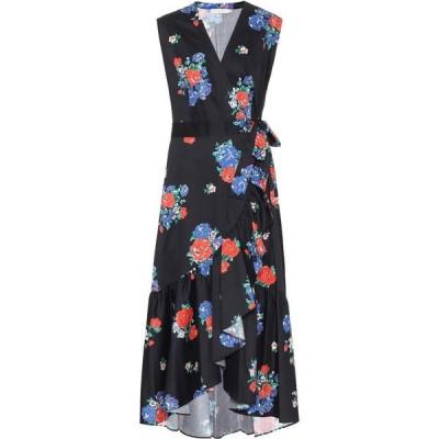トリー バーチ Tory Burch レディース ワンピース ラップドレス ワンピース・ドレス Floral cotton wrap dress Black Tea Rose