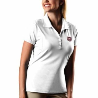 Antigua アンティグア スポーツ用品  Antigua Missouri State University Bears Womens White Pique Xtra-Lite Polo