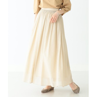 (BEAMS OUTLET/ビームス アウトレット)Demi-Luxe BEAMS / コットンボイル ロングスカート/レディース BEIGE