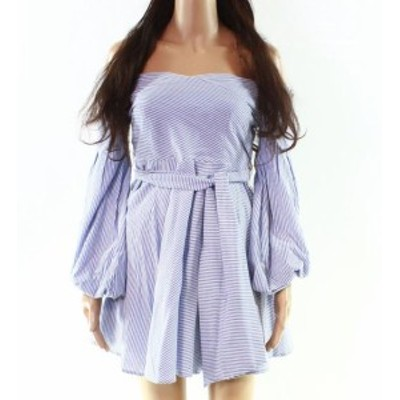 MoDA  ファッション ドレス FEW MODA NEW Black Womens Size Small S Stripe Off Shoudler A-Line Dress