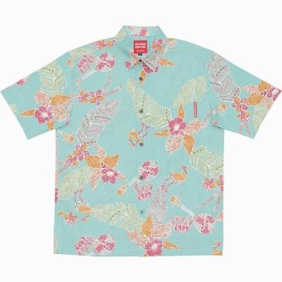 かりゆしウェア 沖縄 アロハシャツ MANGO HOUSE リゾート 結婚式 お揃い ペア 181068 島唄オーキッド(レギュラカラーシャツ) メンズ