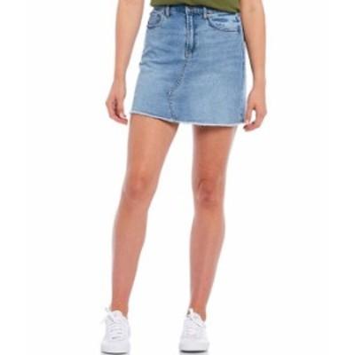カルバンクライン レディース スカート ボトムス Jeans Raw Hem Denim Skirt Yukon