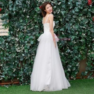 Aラインドレス ウエディング 大きいサイズ 二次会 花嫁 ロングドレス 披露宴 おしゃれ 安い 挙式 発表会 前撮り 結婚式 パーティードレス