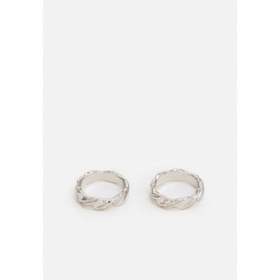 ライアーズアンドラバーズ リング レディース アクセサリー ESSENTIAL DOUBLE TWIST 2 PACK - Ring - rhodium-coloured