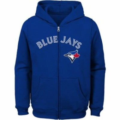 Outerstuff アウタースタッフ スポーツ用品  Toronto Blue Jays Youth Royal Team Color Wordmark Full-Zip Hoodie