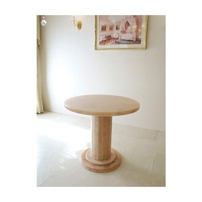 大理石家具 オーダーメイド ダイニングテーブル ラウンド オニキス80cm