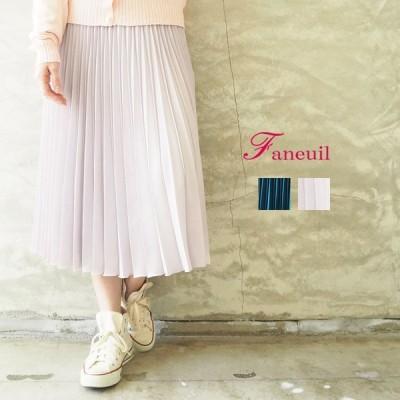 ファヌル FANEUIL スカート レディース F-8220101 ロングスカート プリーツスカート 春 春夏 プリーツ ロング