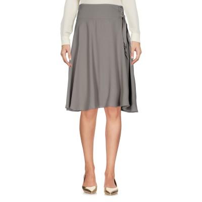 ELISABETTA FRANCHI ひざ丈スカート ミリタリーグリーン 40 レーヨン 100% / ポリエステル ひざ丈スカート