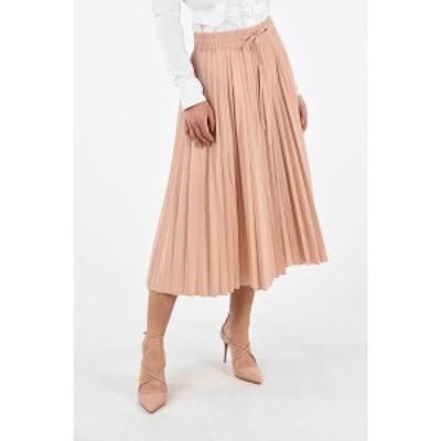 RED VALENTINO/レッド ヴァレンティノ Pink レディース Blend Cotton Accordion Skirt with Waist Drawstring dk