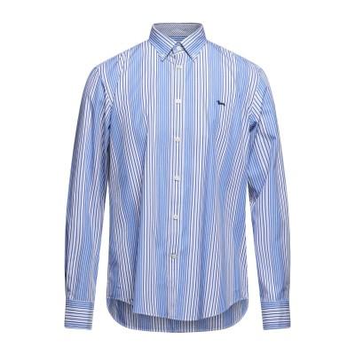 HARMONT&BLAINE シャツ ブルー L コットン 100% シャツ