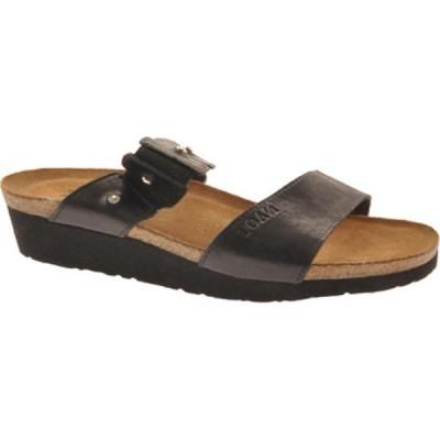 ナオト Naot レディース サンダル・ミュール シューズ・靴 Ashley Black Madras Leather