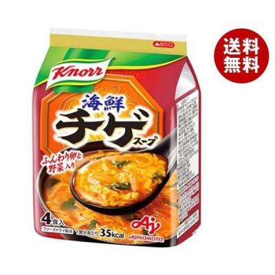【送料無料】【2ケースセット】味の素 クノール海鮮チゲ スープ 4食入 37.6g×10袋入×(2ケース)
