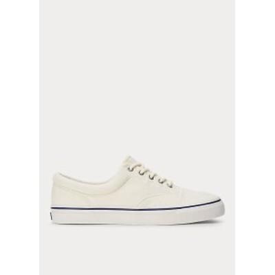 ラルフローレン メンズ スニーカー Polo Ralph Lauren Harpoon Canvas Sneaker キャンバスシューズ Chic Cream