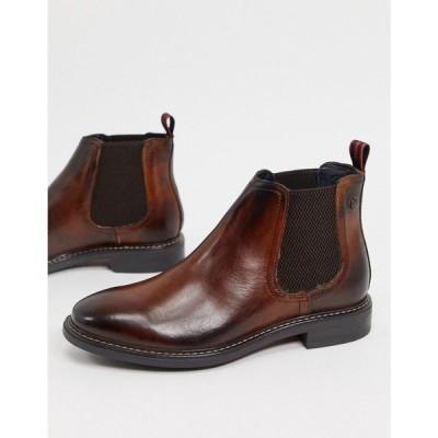 ベース ロンドン Base London メンズ ブーツ チェルシーブーツ シューズ・靴 seymour chelsea boots in brown leather ブラウン