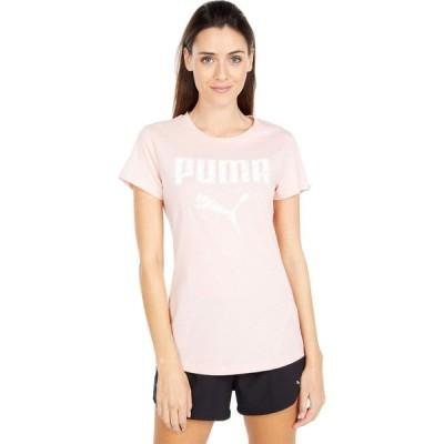 プーマ PUMA レディース Tシャツ ロゴTシャツ トップス Satin Stitch Logo Tee Peachskin