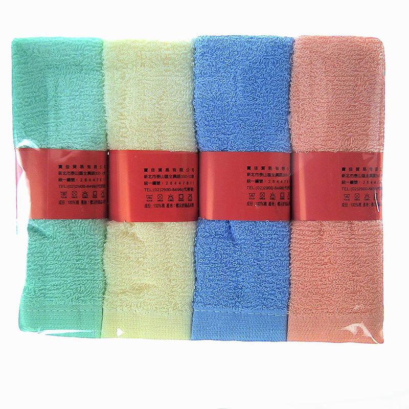 1881純棉素色毛巾4入