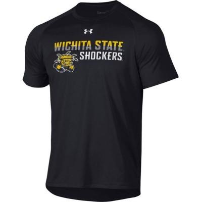 アンダーアーマー Under Armour メンズ Tシャツ トップス Wichita State Shockers Tech Performance Black T-Shirt