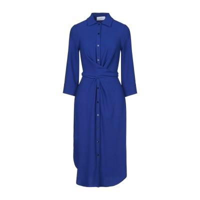 SOALLURE 7分丈ワンピース・ドレス ブルー 40 ポリエステル 97% / ポリウレタン 3% 7分丈ワンピース・ドレス