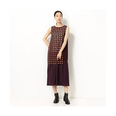 <Gabardine K.T+(Women/大きいサイズ)/ギャバジンケーティープラス> 石畳文様 刺繍セパレートドレス(7801ON01) 01【三越伊勢丹/公式】