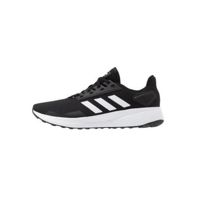 アディダス シューズ メンズ ランニング DURAMO 9 - Neutral running shoes - core black/footwear white