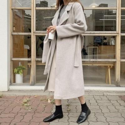 ENVYLOOK レディース コート One&Lob Belt Long Coat