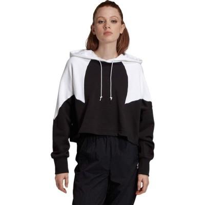 アディダス adidas Originals レディース パーカー クロップド トップス Big Trefoil Crop Hoodie Black/White