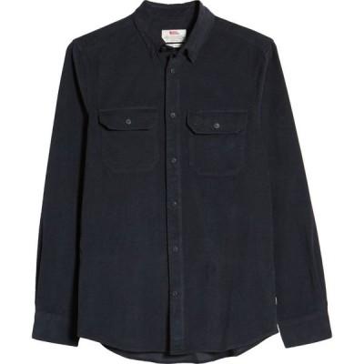 フェールラーベン FJALLRAVEN メンズ シャツ トップス Ovik Corduroy Button-Up Shirt Dark Navy