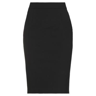 エンポリオ アルマーニ EMPORIO ARMANI ひざ丈スカート ブラック 40 コットン 56% / Viloft® 40% / ポリウレタン