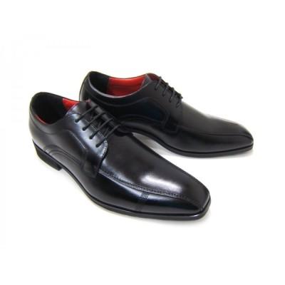 HIROKO KOSHINO/ヒロコ コシノ ビジネス 紳士靴 ブラック レースアップ スクエア3Eワイズ ビジネス 送料無料