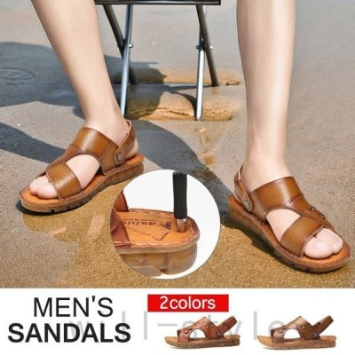 サンダルメンズストラップ靴シューズコンフォートアウトドア街歩きビーチリラックス痛くない軽量メンズスリッパビーチサンダル