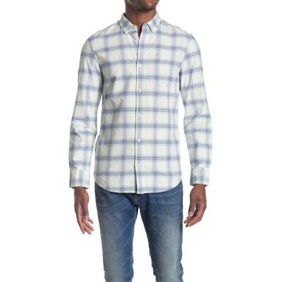 ウォーリンアンドブロス メンズ シャツ トップス Oxford Slim Fit Shirt IVORY - BLUE PLAID