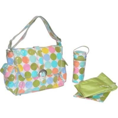 カレンコム Kalencom メンズ ハンドバッグ バッグ Laminated Buckle Bag Disco Dots Cream