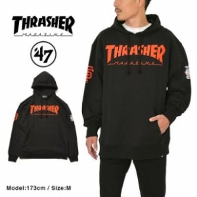 スラッシャー パーカー THRASHER 47 BRAND メンズ レディース スウェット プルオーバー
