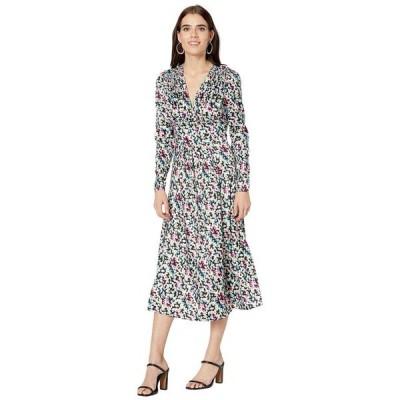 ジェイソンウー レディース ワンピース トップス Long Sleeve V-Neck Printed Satin Jacquard Dress