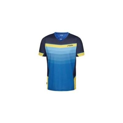 STIGA スティガ ユニセックス 卓球 ウェア ゲームシャツ リバーシャツ II 1854384802 ブルー×イエロー XXS