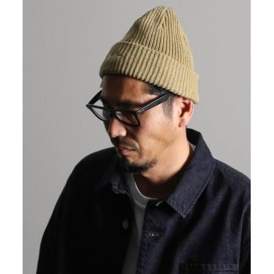 The DUFFER of St.GEORGE / RE COTTON LOW WATCH:リサイクルコットン ニットキャップ ニット帽 サステナブル MEN 帽子 > ニットキャップ/ビーニー