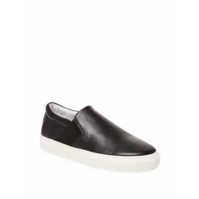 アルファキロ メンズ スニーカー Leather Slip-On Sneaker