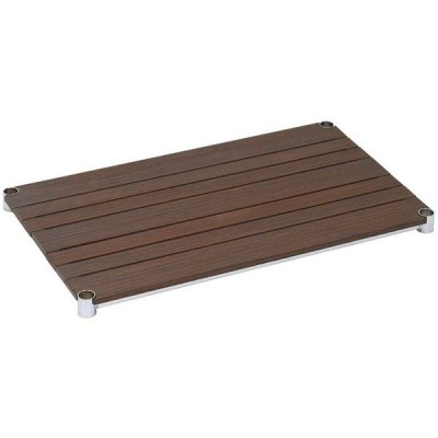 ドウシシャ ルミナス 25mmポール ウッドシェルフ(木製棚板) ブラウン 76×46cm WS7645-BR