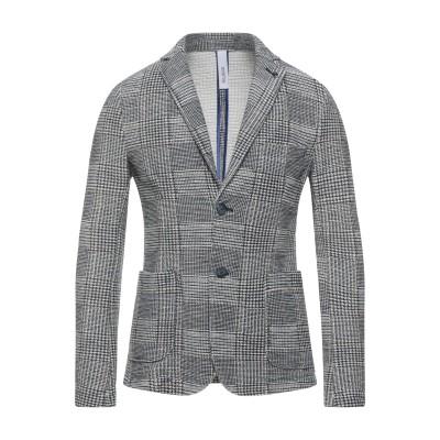 DISTRETTO 12 テーラードジャケット ブルー 48 コットン 80% / ポリエステル 20% テーラードジャケット