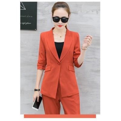 【セール】DBESKSST4305セットアップ スーツ レディース  パンツスーツ ジャケット 上下セット フォーマルスーツ セレモニースーツ 通勤 女性 スーツ