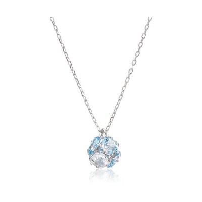 ブルーム 水晶・クオーツ ホワイトゴールド K10 ネックレス BAPWB1604I40