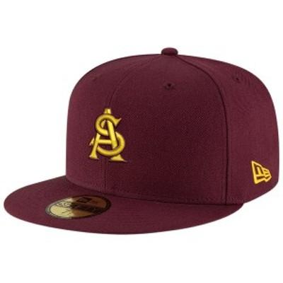 ニューエラ メンズ 帽子 アクセサリー Arizona State Sun Devils New Era Basic 59FIFTY Fitted Hat Maroon