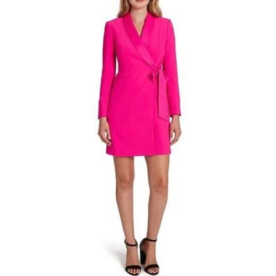 タハリエーエスエル  レディース ワンピース トップス Shawl Collar Side Front Pocket Tie Crepe Sheath Dress