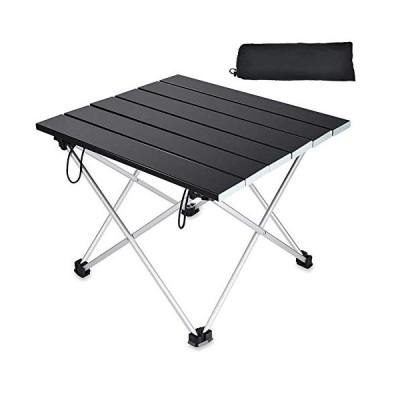 LATOOアウトドアテーブル アルミ製 折畳テーブル キャンプ テーブル 耐荷重30kg 専用収納袋付き 890g軽量 コンパク
