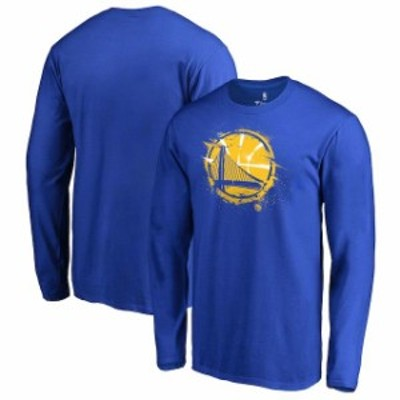 Fanatics Branded ファナティクス ブランド スポーツ用品  Fanatics Branded Golden State Warriors Royal Spatter Logo Long Sleeve T-S
