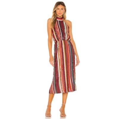 ハウスオブハーロウ1960 House of Harlow 1960 レディース ワンピース ミドル丈 ワンピース・ドレス x REVOLVE Rafaela Midi Dress Red Multi Stripe